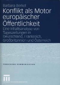 Cover Konflikt als Motor europäischer Öffentlichkeit