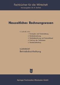 Cover Neuzeitliches Rechnungswesen