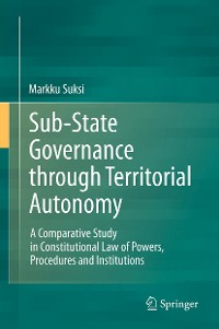 Cover Sub-State Governance through Territorial Autonomy