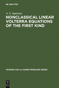 Cover Nonclassical Linear Volterra Equations of the First Kind