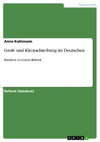 Cover Groß- und Kleinschreibung im Deutschen