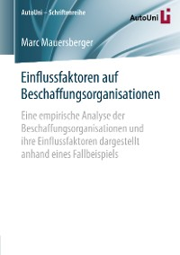 Cover Einflussfaktoren auf Beschaffungsorganisationen