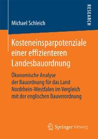 Cover Kosteneinsparpotenziale einer effizienteren Landesbauordnung