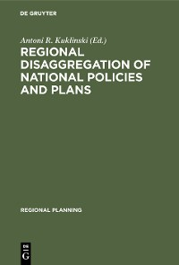 Cover Regional disaggregation of national policies and plans