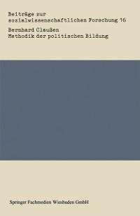 Cover Methodik der politischen Bildung