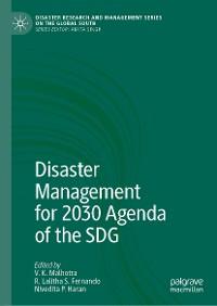 Cover Disaster Management for 2030 Agenda of the SDG