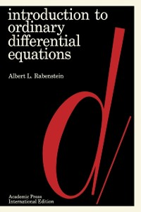 Cover Introduction to Ordinary Differential Equations