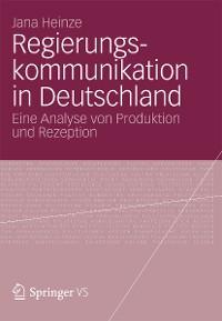 Cover Regierungskommunikation in Deutschland