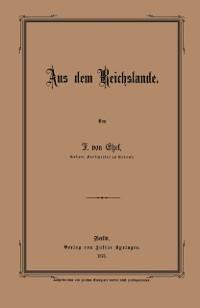 Cover Aus dem Reichslande