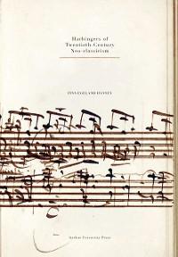 Cover Harbingers of Twentieth-Century Neo-classicism