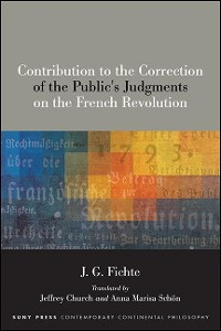 Cover Contribution to the Correction of the Public's Judgments on the French Revolution