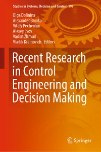 Cover Recent Research in Control Engineering and Decision Making