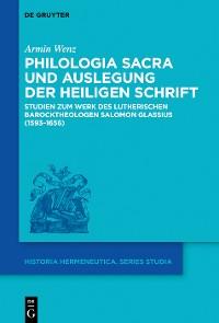 Cover Philologia Sacra und Auslegung der Heiligen Schrift