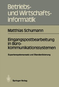 Cover Eingangspostbearbeitung in Burokommunikationssystemen