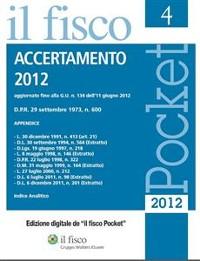 Cover Accertamento 2012