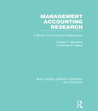 Cover Management Accounting Research (RLE Accounting)