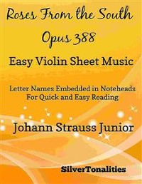 Cover Roses from the South Opus 388 Easy Violin Sheet Music