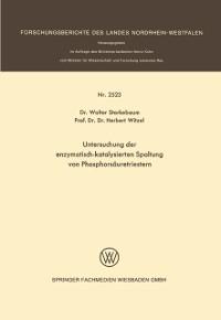 Cover Untersuchung der enzymatisch-katalysierten Spaltung von Phosphorsauretriestern