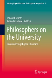 Cover Philosophers on the University
