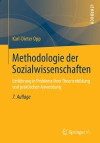 Cover Methodologie der Sozialwissenschaften