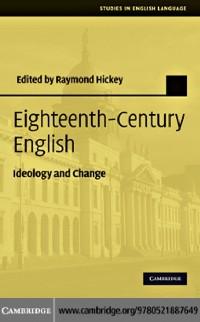 Cover Eighteenth-Century English
