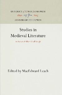 Cover Studies in Medieval Literature