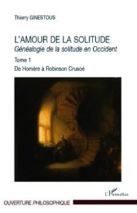 Cover L'amour de la solitude - genealogie de la solitude en occide
