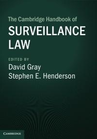 Cover Cambridge Handbook of Surveillance Law