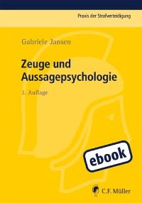 Cover Zeuge und Aussagepsychologie