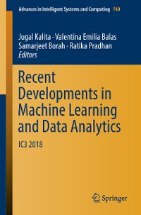 Cover Recent Developments in Machine Learning and Data Analytics