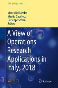 Cover A View of Operations Research Applications in Italy, 2018