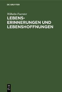 Cover Lebenserinnerungen und Lebenshoffnungen