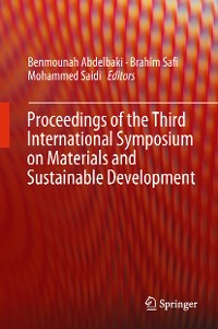 Cover Proceedings of the Third International Symposium on Materials and Sustainable Development