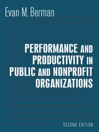 Cover Performance and Productivity in Public and Nonprofit Organizations