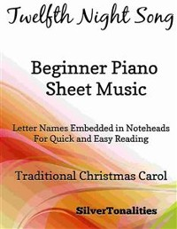 Cover Twelfth Night Song Beginner Piano Sheet Music