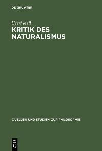 Cover Kritik des Naturalismus