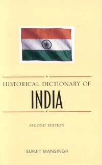 Cover Historical Dictionary of India