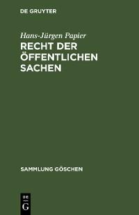 Cover Recht der öffentlichen Sachen