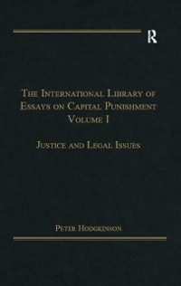 Cover International Library of Essays on Capital Punishment, Volume 1