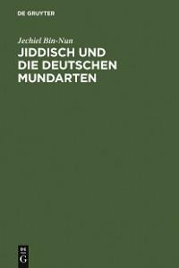 Cover Jiddisch und die deutschen Mundarten