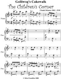 Cover Golliwogs Cakewalk Childrens Corner Easy Piano Sheet Music
