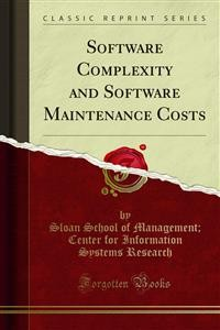 Cover Software Complexity and Software Maintenance Costs