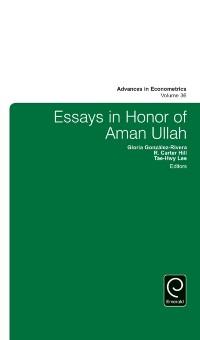 Cover Essays in Honor of Aman Ullah