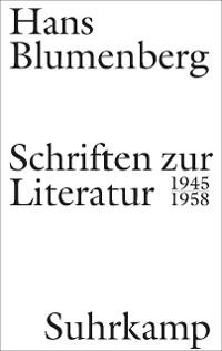 Cover Schriften zur Literatur 1945-1958