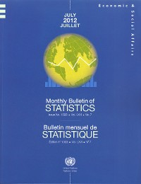 Cover Monthly Bulletin of Statistics, July 2012