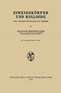 Cover Eiweisskorper und Kolloide
