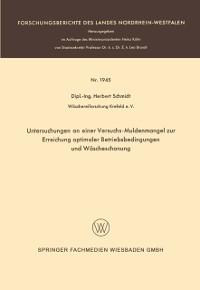 Cover Untersuchungen an einer Versuchs-Muldenmangel zur Erreichung optimaler Betriebsbedingungen und Wascheschonung