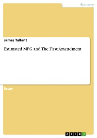Cover Estimated MPG and The First Amendment