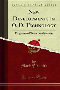 Cover New Developments in O. D. Technology