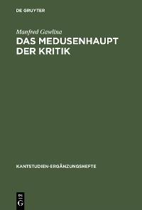 Cover Das Medusenhaupt der Kritik